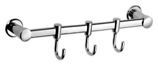 HB205-3 хромАксессуары для ванной<br>Настенные крючки для полотенец Haiba HB205-3 металлические, три крючка. Цена указана за крючки для полотенец и комплект креплений. Все остальное приобретается дополнительно.<br>
