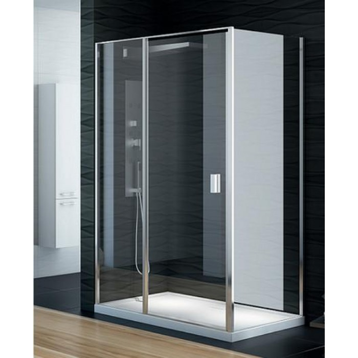 Perfecta Platinum 100x90 EXK-1169/EXK-1189 Профиль хром, стекло прозрачноеДушевые ограждения<br>Душевая шторка Perfecta EXK-1169/EXK-1189 прямоугольная пристенная, двери кабины одинарные, распашные. Её универсальность заключается, в том, что под заказ может быть лево- или правосторонняя дверь. Так же есть огромный выбор стандартных размеров. Стекло прозрачное 6mm, покрытие Active Shield (защита от осаждения камня и других загрязнений на стекле), обрамлено хромированным профилем.<br>