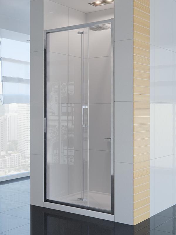 Alta Gold 90 D-0088A Профиль хром, стекло прозрачноеДушевые ограждения<br>Душевая дверь New Trendy Alta D-0088A одинарная, раздвижная. Дверь универсальная левая и правая. Монтаж двери возможен как на полу, так и на поддоне.<br>