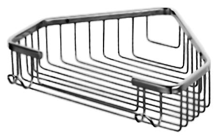 HB335 хромАксессуары для ванной<br>Угловая полка-корзина Haiba HB335 из хромированного металла. Цена указана за полку и комплект креплений. Все остальное приобретается дополнительно.<br>