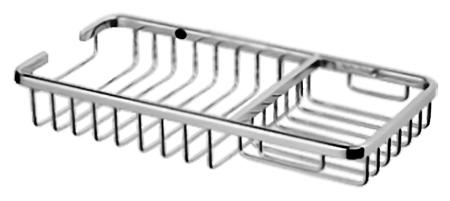 HB337 хромАксессуары для ванной<br>Полка-корзина Haiba HB337 из хромированного металла. Цена указана за полку и комплект креплений. Все остальное приобретается дополнительно.<br>