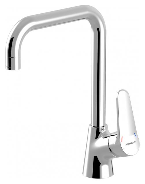 Eco F7111147C ХромСмесители<br>Смеситель для кухни Bravat Eco F7111147C. Корпус латунь. Ручка цинк. Керамический картридж Kerox 35 мм. Гибкая подводка 450mm M10-G1/2 SS 2 шт. Аэратор Neoperl. Поток воды 8,3 л/мин при давлении 0.3 MPa.<br>