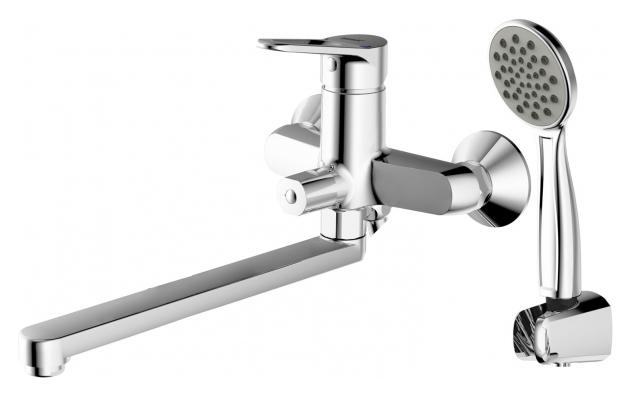 Eco-D F693158C-LB ХромСмесители<br>Смеситель для ванны Bravat Eco-D F693158C-LB. Корпус латунный. Ручка цинковая. Керамический картридж Kerox 35 мм. Керамический переключатель. Аэратор Neoperl. 1-функциональная душевая лейка из ABS-пластик. Шланг 1500 мм SS. Поток воды: излив 15 л/мин, душ 8 л/мин при давлении 0.3 MPa.<br>