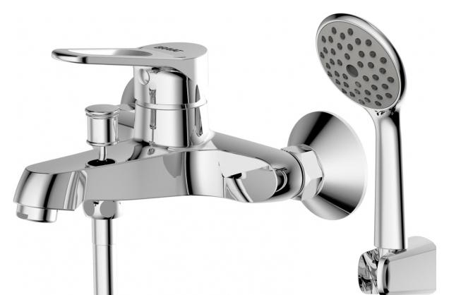 Eco-D F693158C-B ХромСмесители<br>Смеситель для ванны Bravat Eco-D F693158C-B. Корпус латунный. Ручка цинковая. Керамический картридж Kerox 35 мм. Кнопочный переключатель. Аэратор Neoperl. 1-функциональная душевая лейка из ABS-пластика. Шланг 1500 мм SS. Поток воды: излив 20 л/мин, душ 12 л/мин при давлении 0.3 MPa.<br>
