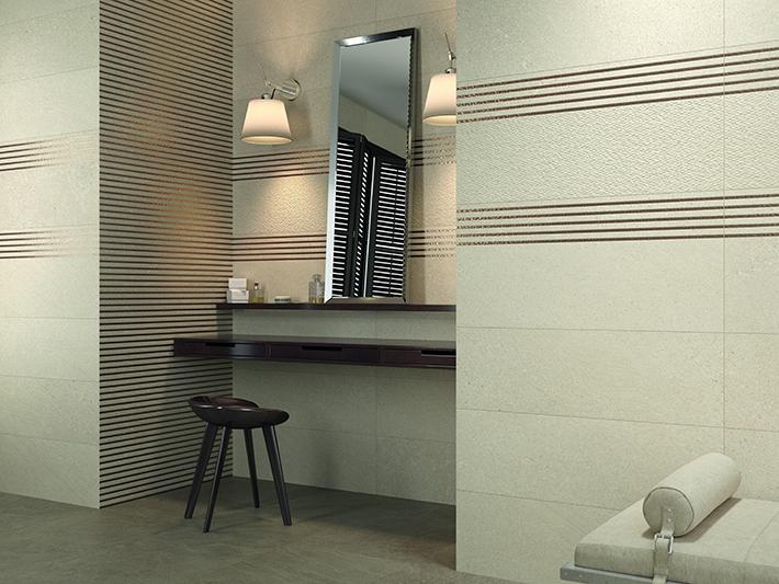 Керамическая плитка Grespania Reims Jacquard Marfil 31,5х100 настенная