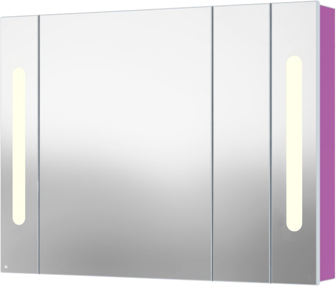Inova 105 подвесной (левый) Темный венгеМебель для ванной<br>В цену входит подвесной зеркальный шкаф Gemelli Inova. Все комплектующие приобретаются отдельно.<br>