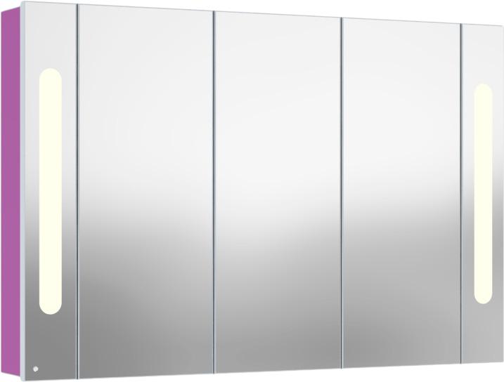 Inova 120 подвесной (правый) Синий пастельныйМебель для ванной<br>В цену входит подвесной зеркальный шкаф Gemelli Inova. Все комплектующие приобретаются отдельно.<br>