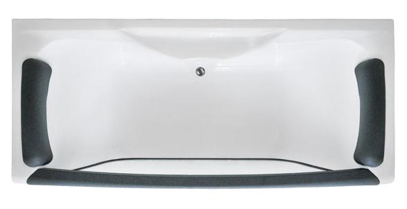 Dolche Vita БелаяВанны<br>Акриловая ванна 1MarKa Dolce Vita 180х80 с прозрачным стеклянным бортом. Подголовник в комплекте.<br>