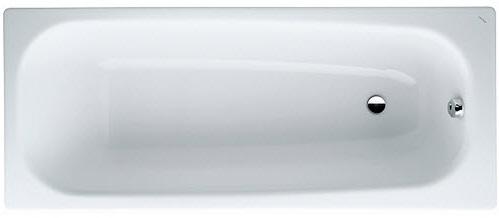 Pro 150x75 2.2295.0.000.040.1 С отверстиями для ручекВанны<br>Ванна стальная Laufen Pro 2.2295.3.000.040.1 с шумоизоляционным покрытием. Толщина – 3 мм, соответствие цветовой гаммы, стойкость к царапинам, истиранию, устойчивость к воздействию химических реагентов и ультрафиолетовому излучению.<br>