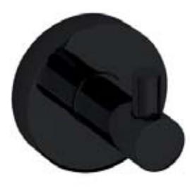 Купить Крючок для одежды, Dark 104106020 Чёрный, Bemeta, Чехия