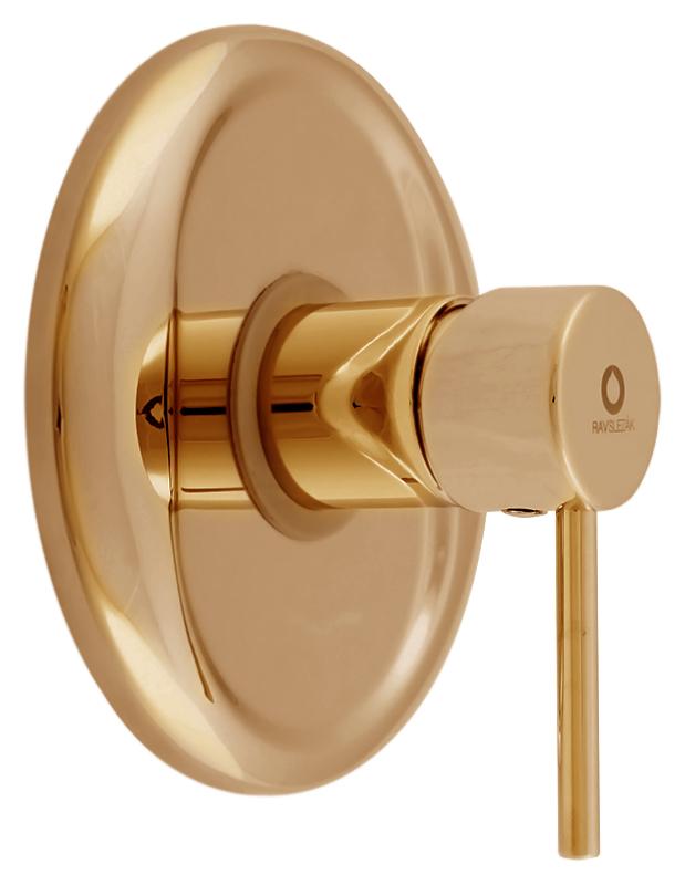 Seina SE983RZ золотойСмесители<br>Встраиваемый смеситель для душа Rav Slezak Seina SE983RZ без излива, однорычажный, изготовлен из высококачественной латуни, которая исключает какую-либо коррозию. Металлическая рукоятка. Декоративная латунная крышка диаметром 150 мм. Качественный керамический картридж 35 мм Kerox, производство Венгрия, гарантирует долговечность и мягкий поток воды. Подвод воды G1/2. Цена указана за внешнюю и внутреннюю части смесителя и комплект крепления. Все остальное приобретается дополнительно.<br>