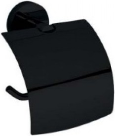 Dark 104112010 ЧёрныйАксессуары для ванной<br>Держатель для туалетной бумаги с крышкой  Bemeta Dark 104112010. Цвет изделия - черный.<br>