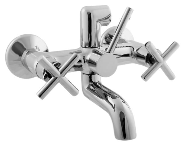 Lena LE154.5 хромСмесители<br>Смеситель для ванны Rav Slezak Lena LE154.5 монолитный, без душевого гарнитура, изготовлен из высококачественной латуни, которая исключает какую-либо коррозию. Металлические рукоятки с керамическими кран буксами, производство Германия. Подключение шланга сверху. Керамический переключатель душ/излив. Цена указана за смеситель, отражатели и комплект крепления. Все остальное приобретается дополнительно.<br>