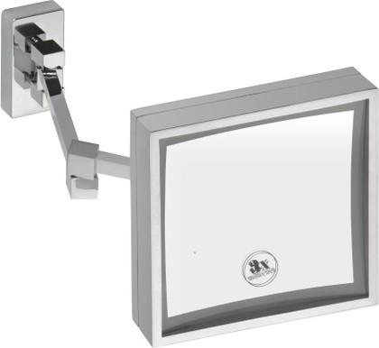 Cosmetic mirrors 112101202 ХромАксессуары для ванной<br>Косметическое зеркало Bemeta Cosmetic mirrors 112101202 с подсветкой 200х200мм. Цвет изделия - хром.<br>
