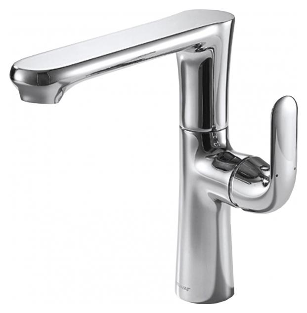Flow F171105C-A ХромСмесители<br>Смеситель для кухни Bravat Flow F171105C-A. Корпус латунный. Ручка цинковая. Керамический картридж Kerox 35 мм. Гибкая подводка 450 мм M10-G1/2 SS 2 шт. Аэратор Neoperl. Поток воды 8,3 л/мин при давлении 0.3 MPa.<br>