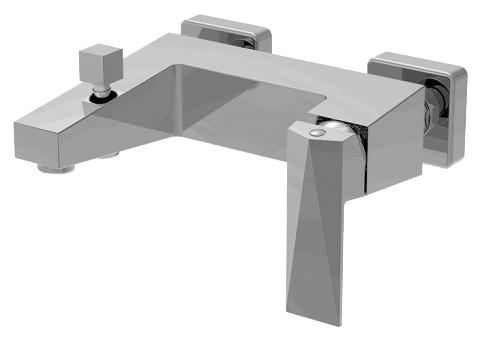 Iceberg F676110C-B-RUS ХромСмесители<br>Смеситель для ванны Bravat Iceberg F676110C-B-RUS. Корпус латунный. Ручка цинковая. Керамический картридж Kerox 35 мм. Кнопочный переключатель. 1-функциональная душевая лейка из ABS-пластика. Шланг 1500 мм PМС. Аэратор Neoperl. Поток воды 20 л/мин при давлении 0.3 MPa.<br>