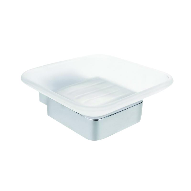 Via 135008022 Матовое стеклоАксессуары для ванной<br>Мыльница для ванной Bemeta Via 135008022.  Цвет матовый.<br>