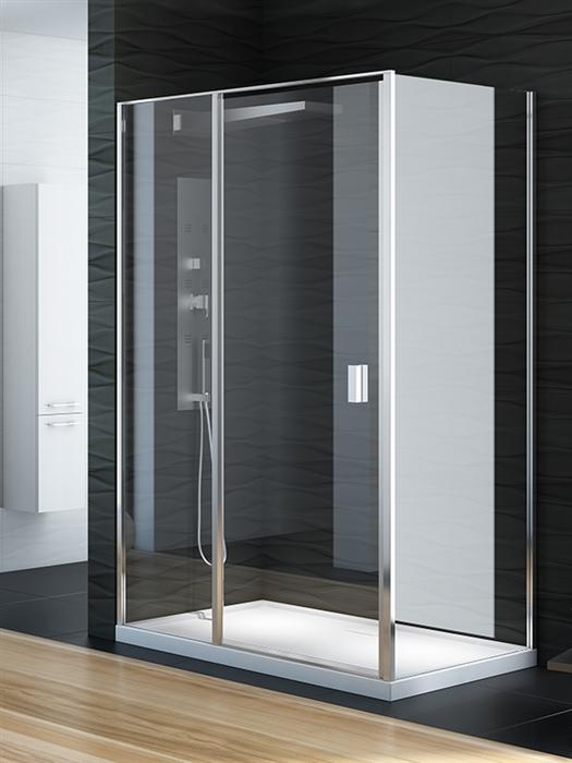 Perfecta Platinum 140x90 EXK-1187/EXK-1189 Профиль хром, стекло прозрачноеДушевые ограждения<br>Душевая шторка Perfecta EXK-1187/EXK-1189 прямоугольная пристенная, двери кабины одинарные, распашные. Её универсальность заключается, в том, что под заказ может быть лево- или правосторонняя дверь. Так же есть огромный выбор стандартных размеров. Стекло прозрачное 6mm, покрытие Active Shield (защита от осаждения камня и других загрязнений на стекле), обрамлено хромированным профилем.<br>