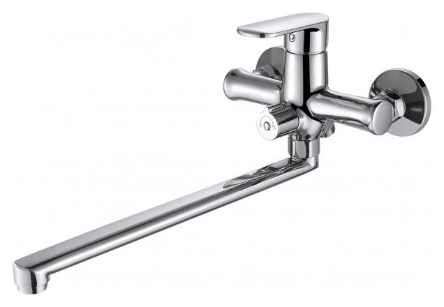 Opal F6125183CP-02L-RUS ХромСмесители<br>Смеситель для ванны Bravat Opal F6125183CP-02L-RUS. Корпус латунь. Ручка цинк. Керамический картридж Sedal 35 мм. Керамический переключатель. Аэратор Neoperl. Поток воды: излив 15 л/мин; душ 8 л/мин при давлении 0.3 MPa.<br>
