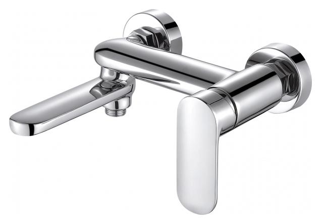 Opal F6125183CP-01-RUS ХромСмесители<br>Смеситель для ванны Bravat Opal F6125183CP-01-RUS. Корпус латунь. Ручка цинк. Керамический картридж Sedal 35 мм. Кнопочный переключатель. Аэратор Neoperl. Поток воды: излив 20 л/мин; душ 12 л/мин при давлении 0.3 MPa.<br>