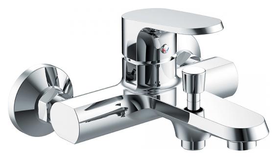 Pure F6105161C-01 ХромСмесители<br>Смеситель для ванны Bravat Pure F6105161C-01. Корпус латунный. Ручка цинковая. Керамический картридж Sedal. Аэратор Neoperl.<br>