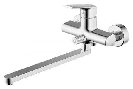Real F6121179CP-01L ХромСмесители<br>Смеситель для ванны Bravat Real F6121179CP-01L. Корпус латунь. Ручка цинк. Керамический картридж Kerox 35 мм. Керамический переключатель. Аэратор Neoperl. Поток воды 15 л/мин при давлении 0.3 MPa.<br>