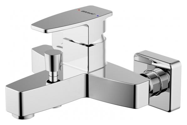 Riffle F672106C-01 ХромСмесители<br>Смеситель для ванны Bravat Riffle F672106C-01. Корпус латунь. Ручка цинк. Керамический картридж Kerox 35 мм. Кнопочный переключатель. Аэратор Neoperl. Поток воды 20 л/мин при давлении 0.3 MPa.<br>