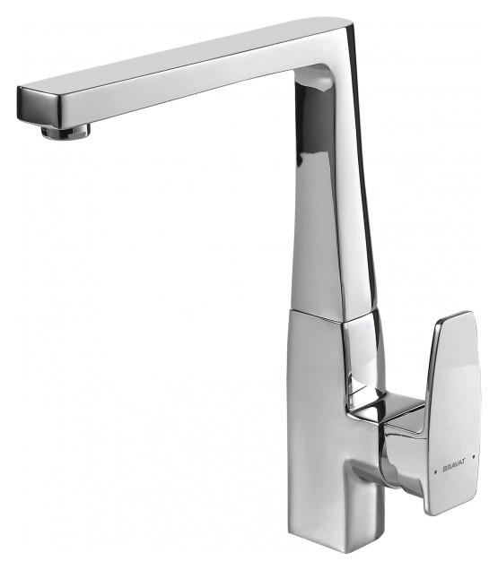 Смеситель для кухни Bravat Riffle F772106C Хром смеситель для ванны bravat riffle f672106c 01 хром