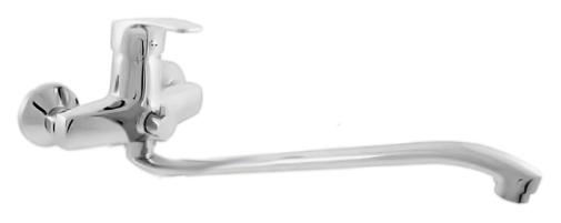 Kongo K052.5 хромСмесители<br>Смеситель универсальный Rav Slezak Kongo K052.5 однорычажный, без душевого гарнитура, изготовлен из высококачественной латуни, которая исключает какую-либо коррозию. Длинный, 370 мм, поворотный, 360 градусов, излив. Металлическая рукоятка. Керамический переключатель душ/излив. Аэратор Neoperl представляет собой ситечко антикальк с резиновой насадкой, специальная конструкция ситечка позволяет экономить расход воды и упрощает чистку известкового налёта. Качественный керамический картридж 40 мм Kerox, производство Венгрия, гарантирует долговечность и мягкий поток воды. Цена указана за смеситель и комплект крепления. Все остальное приобретается дополнительно.<br>