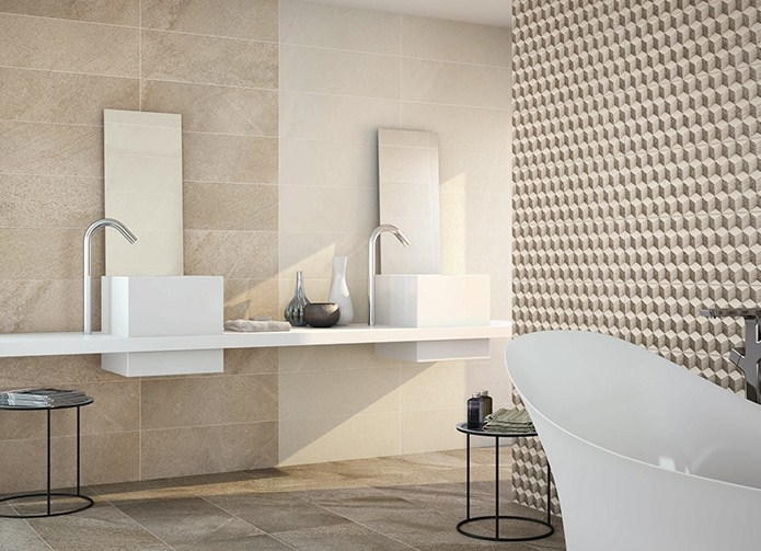 Керамическая плитка Porcelanite Dos 7514 Decor Beige Lineal Living 25х75 декор