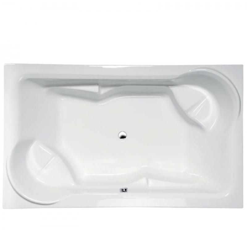 Duo 200x120 16111 БелаяВанны<br>Ванна акриловая Alpen Duo из 100% акрилового листа. Ванну можно установить к стене или посреди ванной комнаты. Изготовлена из 100% акрилового листа.<br>