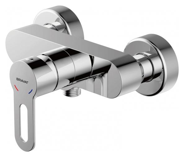 Stream-D F937163C-01 ХромСмесители<br>Смеситель для душа Bravat Stream-D F937163C-01. Корпус латунь. Ручка цинк. Керамический картридж Kerox 35 мм. Поток воды 12 л/мин при давлении 0.3 MPa.<br>