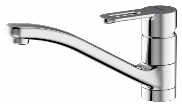 Stream-D F737163C-1 ХромСмесители<br>Смеситель для кухни Bravat Stream-D F737163C-1. Корпус латунь. Ручка цинк. Керамический картридж Kerox 35 мм. Гибкая подводка 450 мм M10-G1/2 SS 2 шт. Аэратор Neoperl. Поток воды 8,3 л/мин при давлении 0.3 MPa.<br>