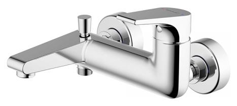 Vega F6119177CP-01 ХромСмесители<br>Смеситель для ванны Bravat Vega F6119177CP-01. Корпус латунь. Ручка цинк. Керамический картридж Keroxl 35 мм. Кнопочный переключатель. Аэратор Neoperl. Поток воды: излив 20 л/мин; душ 12 л/мин при давлении 0.3 MPa.<br>