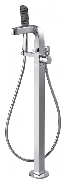Wave F674108C-B ХромСмесители<br>Смеситель для ванны Bravat Wave F674108C-B отдельностоящий. Корпус латунь. Ручка цинк. Керамический картридж Kerox 35 мм. Шланг 715 мм M10-G3/8 SS 2 шт. Аэратор Neoperl. 1-функциональная душевая лейка из ABS-пластик. Шланг 1500 мм PVC. Поток воды: излив 20 л/мин; душ 8 л/мин при давлении 0.3 MPa.<br>