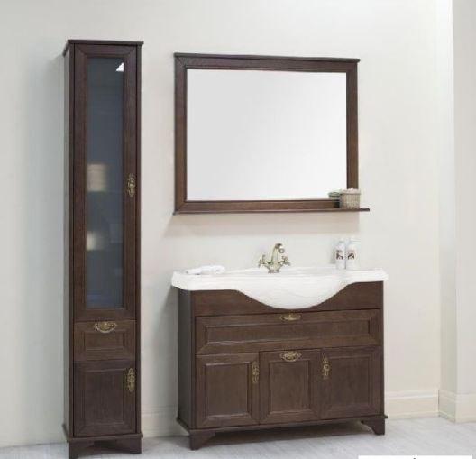 Идель 105 Дуб шоколадныйМебель для ванной<br>Тумба под раковину  напольная Акватон Идель 1A197801IDM80 с дверками, ящиками, механизмом доводчика. Стоимость указана только за тумбу. Шкаф-пенал, зеркало и раковина приобретаются отдельно.<br>
