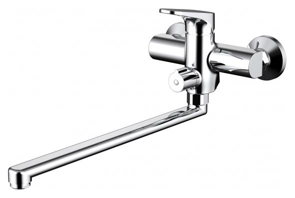 Eler F6191238CP-01L-RUS ХромСмесители<br>Смеситель для ванны Bravat Eler F6191238CP-01L-RUS. Корпус латунь. Ручка цинк. Керамический картридж Sedal 35 мм. Керамический переключатель. Аэратор Neoperl. Поток воды: излив 15 л/мин; душ 8 л/мин при давлении 0.3 MPa.<br>