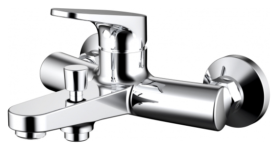 Eler F6191238CP-01-RUS ХромСмесители<br>Смеситель для ванны Bravat Eler F6191238CP-01-RUS. Корпус латунь. Ручка цинк. Керамический картридж Sedal 35 мм. Кнопочный переключатель. Аэратор Neoperl. Поток воды: излив 20 л/мин; душ 12 л/мин при давлении 0.3 MPa.<br>