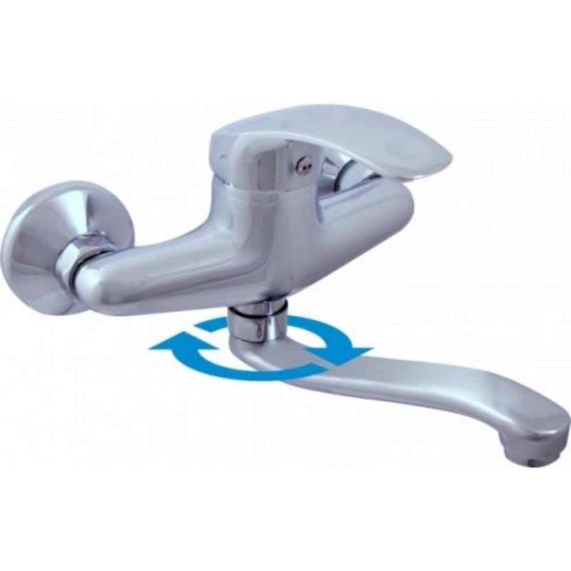 Mississippi MS001.5/26 ХромСмесители<br>Смеситель для раковины Rav Slezak Мississippi MS001.5/26 с поворотным изливом. Керамические картриджи гарантируют долговечность и мягкий поток воды. Фирма Rav Slezak при производстве смесителей использует 80% венгерские картриджи от фирмы Kerox и 20% от испанской фирмы Sedal.<br>