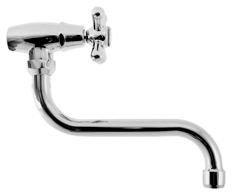 Morava MK192 хром, с керамической кран-буксойСмесители<br>Настенный кран для одного типа воды Rav Slezak Morava MK192 с аэратором, изготовлен из высококачественной латуни, которая исключает какую-либо коррозию. Поворотный излив, 360 градусов, длиной 200 мм. Кран может быть установлен в кухне для фильтрованной воды. Качественная керамическая кран-букса, гарантирует долговечность и мягкий поток воды. Подвод воды G1/2. В комплекте кран и комплект крепления.<br>