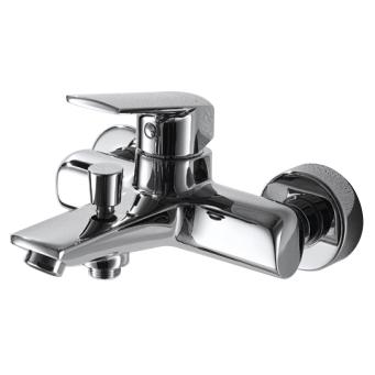 Real F6121179CP-01 ХромСмесители<br>Смеситель для ванны Bravat Real F6121179CP-01. Корпус латунь. Ручка цинк. Керамический картридж Kerox 35 мм. Кнопочный переключатель. Аэратор Neoperl. Поток воды 20 л/мин при давлении 0.3 MPa.<br>