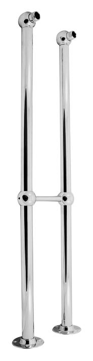 Morava retro SD0100 хром с золотомСмесители<br>Колонны Rav Slezak Morava retro SD0100CZ для напольной установки смесителя. Расстояние между центрами 150 мм. В комплекте две колонны.<br>