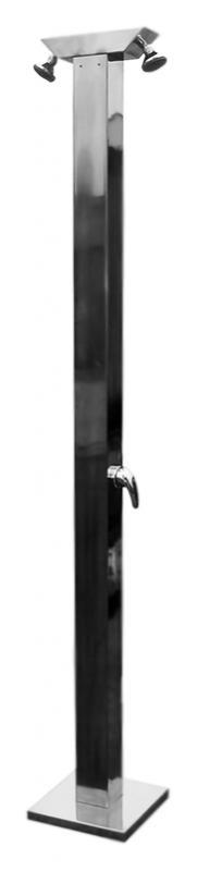 Z2110 хромДушевые панели<br>Напольная душевая панель Rav Slezak Z2110 из нержавеющей стали с двумя однорычажными смесителями и двумя верхними душами. Высота панели 2200 мм. Гибкая подводка G1/2, длиной 350 мм. Цена указана за душевую панель, два смесителя, два верхних душа, гибкую подводку и комплект крепления. Все остальное приобретается дополнительно.<br>