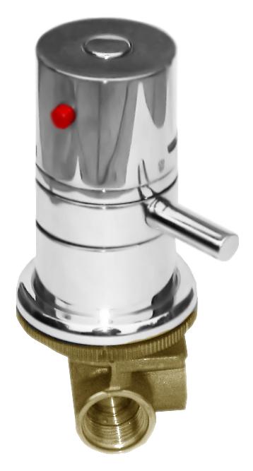 X184T хромСмесители<br>Встраиваемый термостат для душа Rav Slezak X184T без излива. Качественный термостатический картридж 40 мм. Подвод воды G1/2. Цена указана за внешнюю и внутреннюю части смесителя и комплект крепления. Все остальное приобретается дополнительно.<br>