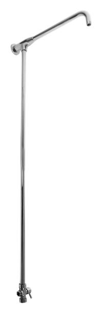 SD0101 хром, подвод воды G1/2Душевые гарнитуры<br>Душевая штанга Rav Slezak SD0101 из металла для верхнего и ручного душей с керамическим переключателем верхний/ручной душ. Подвод воды G1/2, подключение верхнего душа G1/2, подключение душевого шланга G1/2. Высота штанги 1088 мм, длина кронштейна для верхнего душа 385 мм. Цена указана за штангу с керамическим переключателем и комплект крепления. Все остальное приобретается дополнительно.<br>