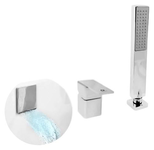 Loira LR563.5Y золотойСмесители<br>Смеситель на борт ванны Rav Slezak Loira LR563.5YZ с душевым гарнитуром, изготовлен из высококачественной латуни, которая исключает какую-либо коррозию. Качественный керамический картридж 40 мм, со встроенным переключателем душ/излив, гарантирует долговечность и мягкий поток воды. Пластиковый шланг с пружиной, которая обеспечивает лёгкое возвращение шланга в держатель. Длина шланга 2000 мм. Пластиковая, однорежимная, душевая лейка, с антиизвестковыми резиновыми насадками. В комплекте смеситель, шланг, душевая лейка и комплект крепления.<br>