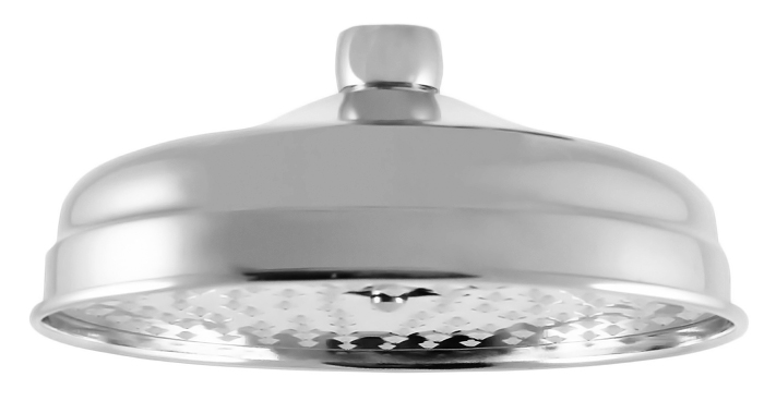 KS0020 хромВерхние души<br>Круглый верхний душ Rav Slezak KS0020 из металла с хромированной поверхностью, диаметром 200 мм, однорежимный.<br>