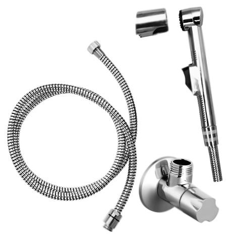 SK0042 хромГигиенические души<br>Гигиенический душ Rav Slezak SK0042 с одним типом воды. Подвод воды осуществляется с помощью углового вентиля с керамической головкой. Пластиковая душевая лейка с нажимной кнопкой. Фиксированный пластиковый держатель для лейки. Пластиковый душевой шланг длиной 1500 мм. В комплекте: вентиль, душевая лейка, настенный держатель для лейки, шланг и комплект крепления.<br>