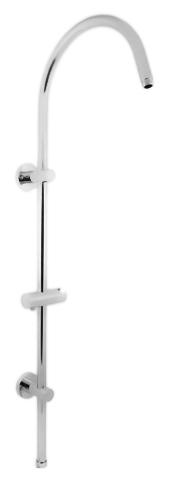 MD0554 хромДушевые гарнитуры<br>Душевая штанга Rav Slezak MD0554 из металла для верхнего и ручного душей с держателем ручного душа, без переключателя. Подвод воды G3/4, подключение верхнего душа G1/2. Высота штанги 1000 мм, длина кронштейна для верхнего душа 300 мм. Крепление на два отверстия. При необходимости можно приобрести керамический переключатель ручной/верхний душ Rav Slezak MD0629. Цена указана за штангу, держатель ручного душа и комплект крепления. Все остальное приобретается дополнительно.<br>