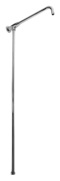 MD0632 хромДушевые гарнитуры<br>Телескопическая душевая штанга Rav Slezak MD0632 из металла для верхнего и ручного душей. Подвод воды G3/4, подключение верхнего душа G1/2. Регулируемая высота штанги 790 - 1290 мм, длина кронштейна для верхнего душа 385 мм. В комплекте штанга и комплект крепления.<br>